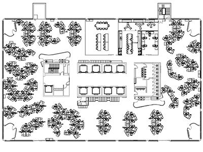 CAD Drafting Floor Plan Occupancy